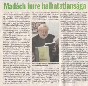 Madách Imre halhatatlansága,nmh.2016.1.23.